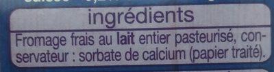 Petits Suisses (9.2 % MG) - (12 pots de 60 g) - Ingrédients - fr