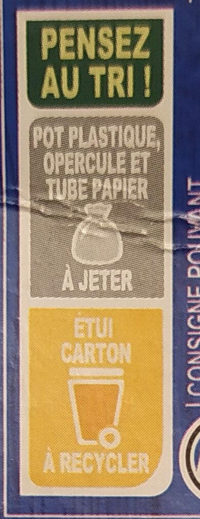 Petits Suisses (9.2 % MG) - (12 pots de 60 g) - Instruction de recyclage et/ou information d'emballage - fr