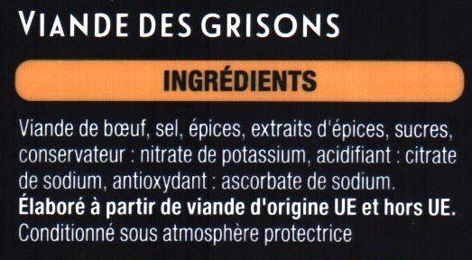 Viande des grisons - Ingrédients - fr