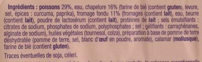 Poisson au Fromage Fondu - Ingrédients