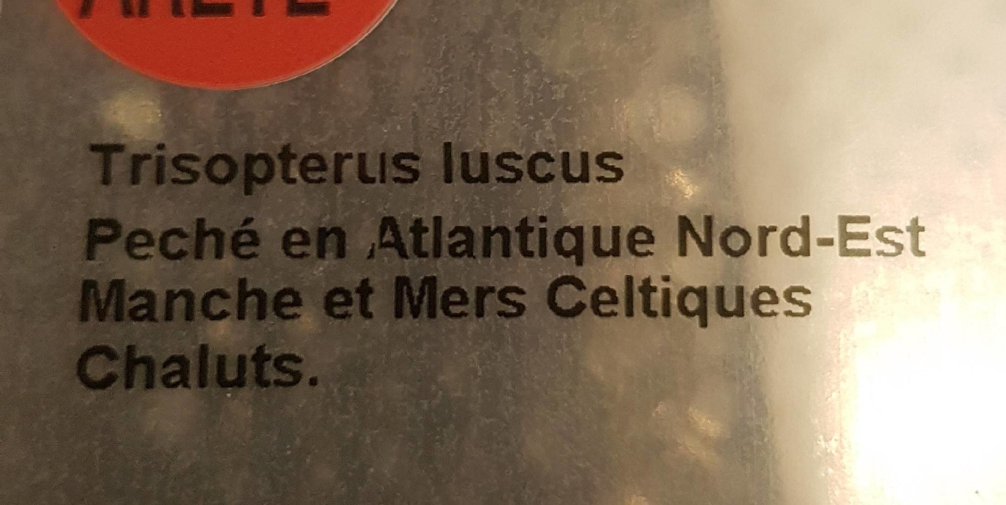 Filets de tacaud - Ingrediënten - fr
