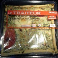 Tarte Carrée au fromage de chèvre et aux épinards - Product