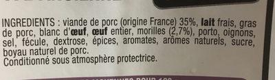 Boudin blanc a l'ancienne - Ingrédients - fr