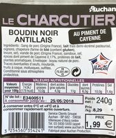 Boudin noir Antillais - Produit - fr