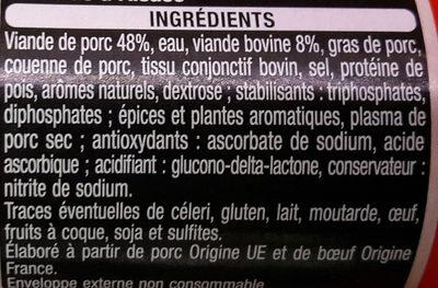 Cervelas d'Alsace - Ingrediënten