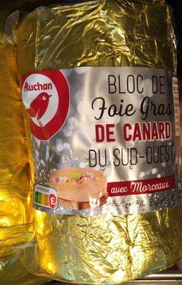 Bloc de foie gras de canard du Sud-Ouest avec morceaux - Product