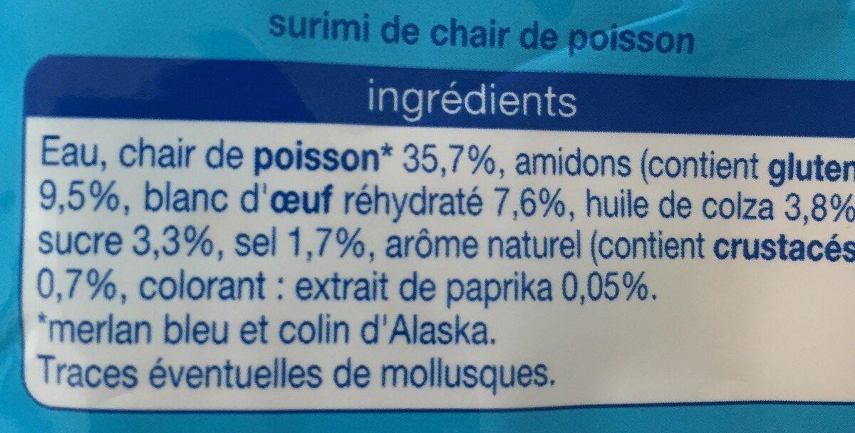 Râpé de surimi - Ingrédients - fr