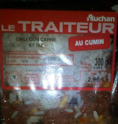 Chili con carne et riz au cumin - Product