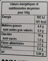 Chili con carne et riz au cumin - Nutrition facts