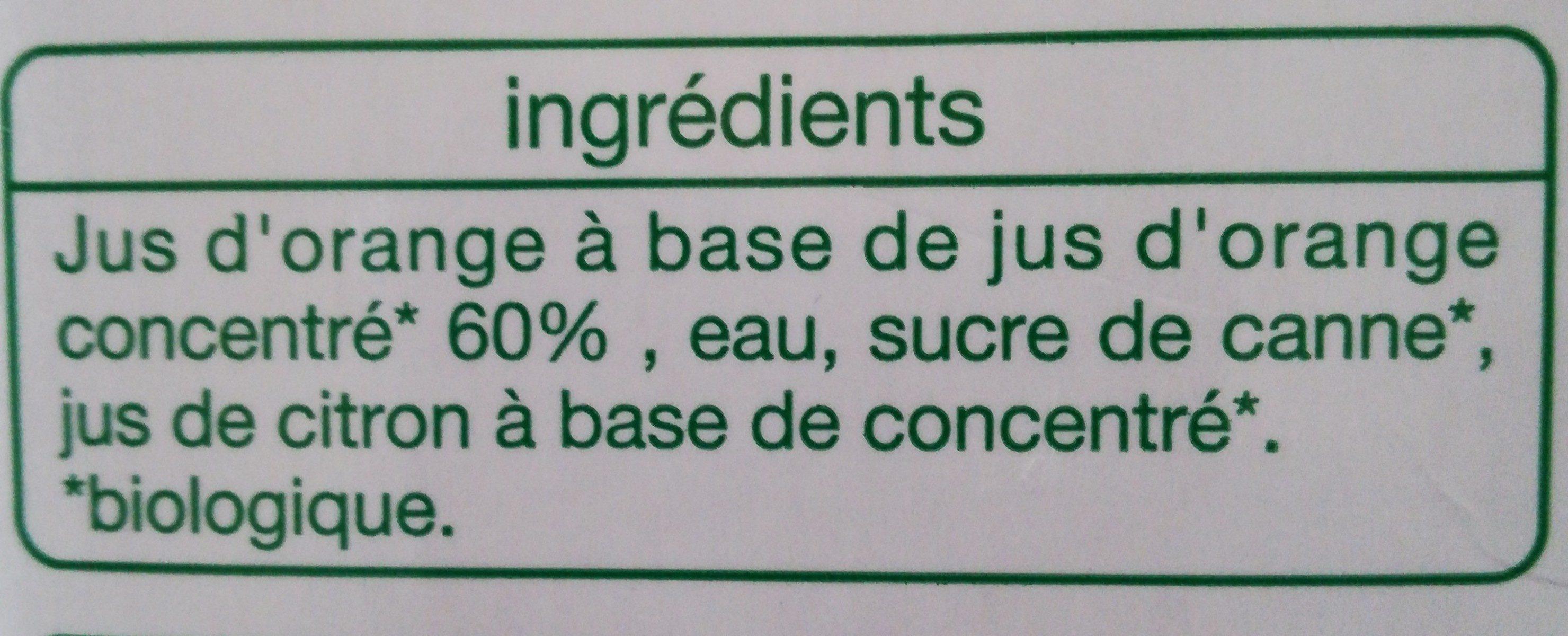 Nectar ORANGE - Ingredienti - fr