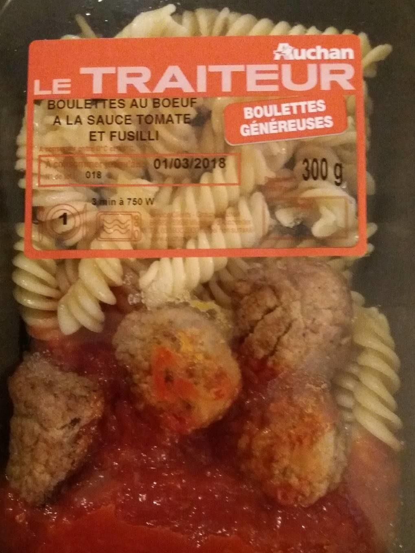 Boulettes au boeuf a la sauce tomate et fusilli - Product