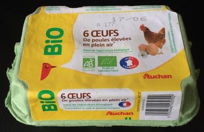 6 œufs de poules élevées en plein air - Produit - fr