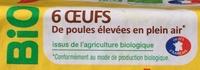 6 œufs de poules élevées en plein air - Ingrédients - fr