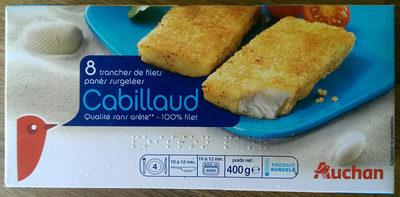 Tranches de filets panés surgelées Cabillaud - Produit