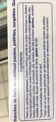 Tranches de filets panés surgelées Cabillaud - Ingrédients