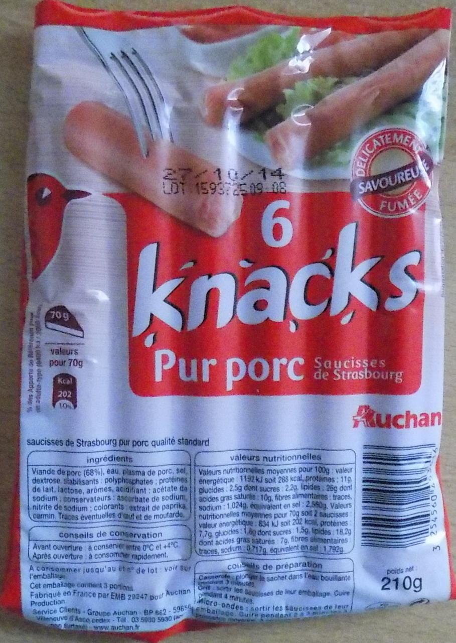 6 Knacks - Pur porc - Produkt - fr