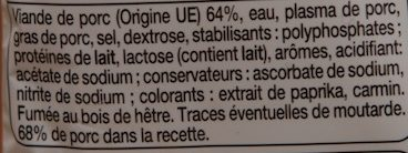 6 Knacks - Pur porc - Inhaltsstoffe - fr