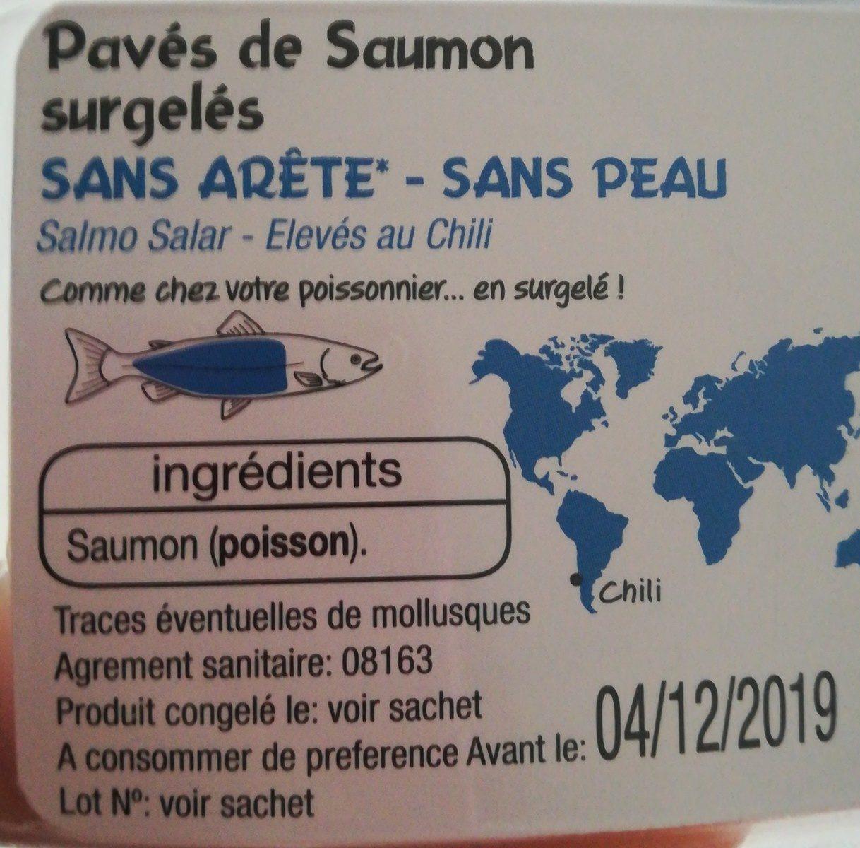 Pavés de saumon surgelés - Ingrédients - fr