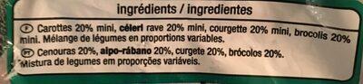 Julienne de legumes Carottes, courgettes, celeris, brocolis. - Ingredients - fr