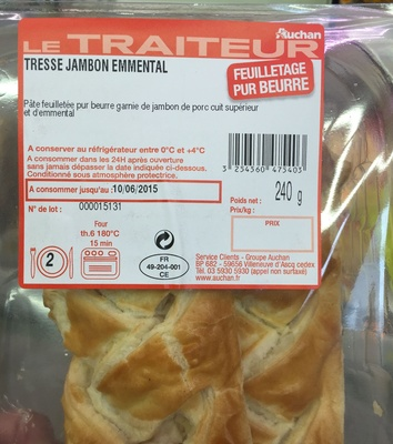 Tresse Jambon Emmental - Produit - fr