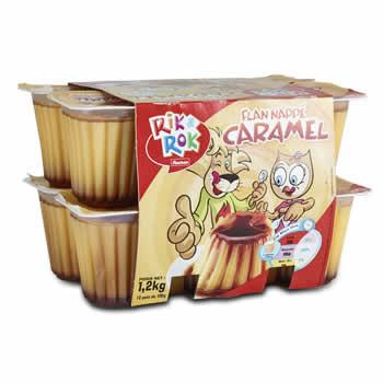 Rik&Rok Flans nappés au Caramel - Produit