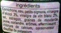 Cornichons aux deux vinaigres extra fins - Ingredients - fr