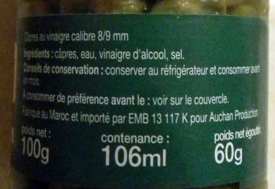 Câpres - Ingrediënten - fr
