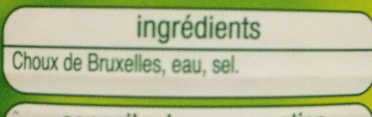 Auchan Choux De Bruxelles - Ingredients