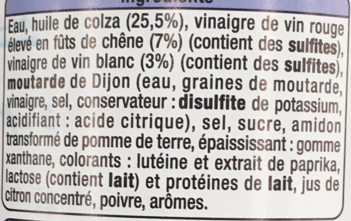 Vinaigrette allégée Nature - Ingredients