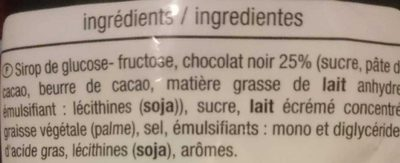 Caram'choc - Ingrédients