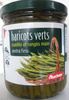 Haricots verts cueillis et rangés main extra fins - 400 g - Auchan - Produit