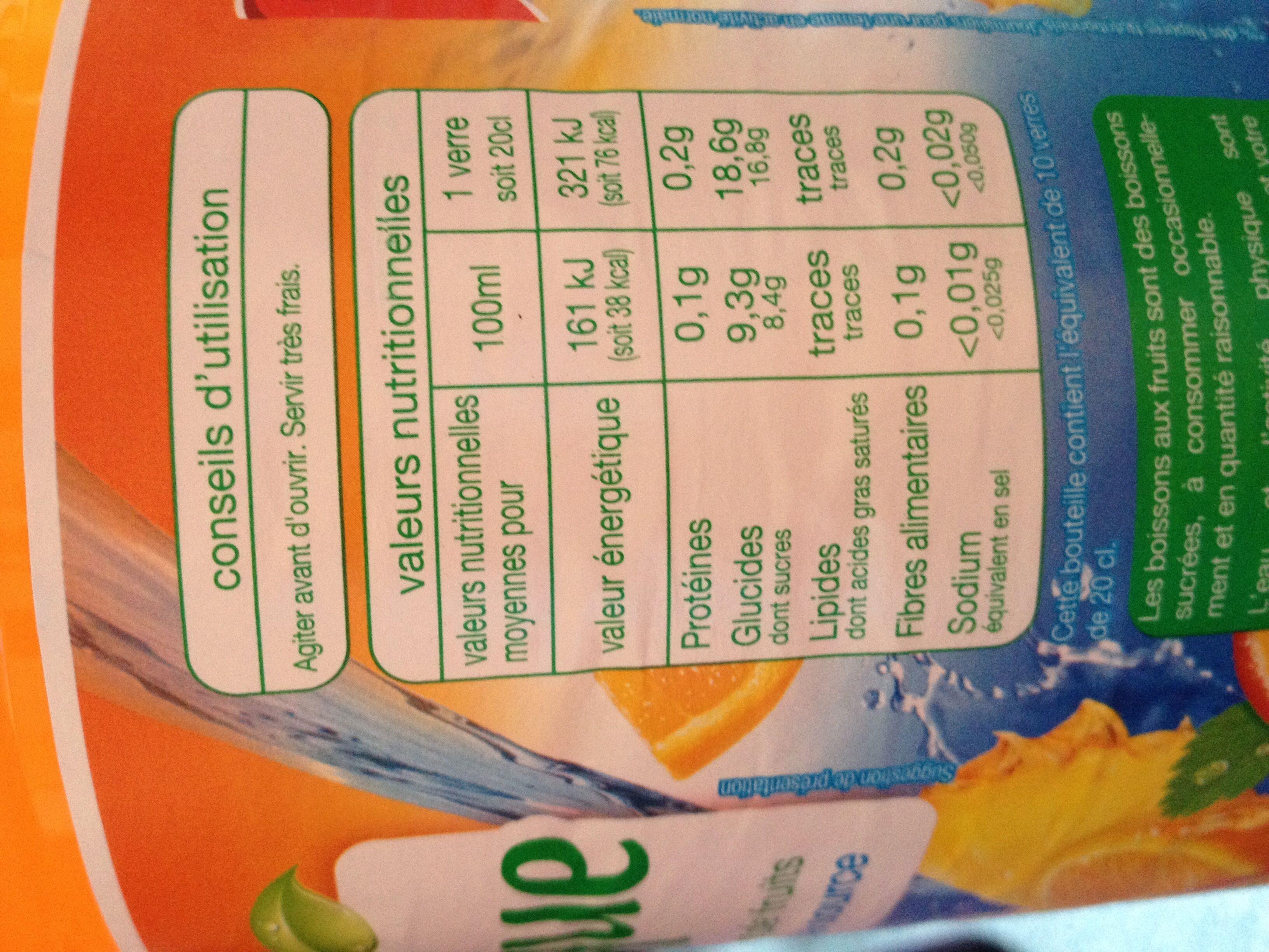 Tropical - Voedingswaarden - fr