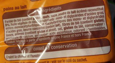 10 Pains au lait - Ingredients - fr