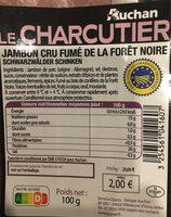 Jambon cru fumé de la forêt noire - Voedingswaarden - fr
