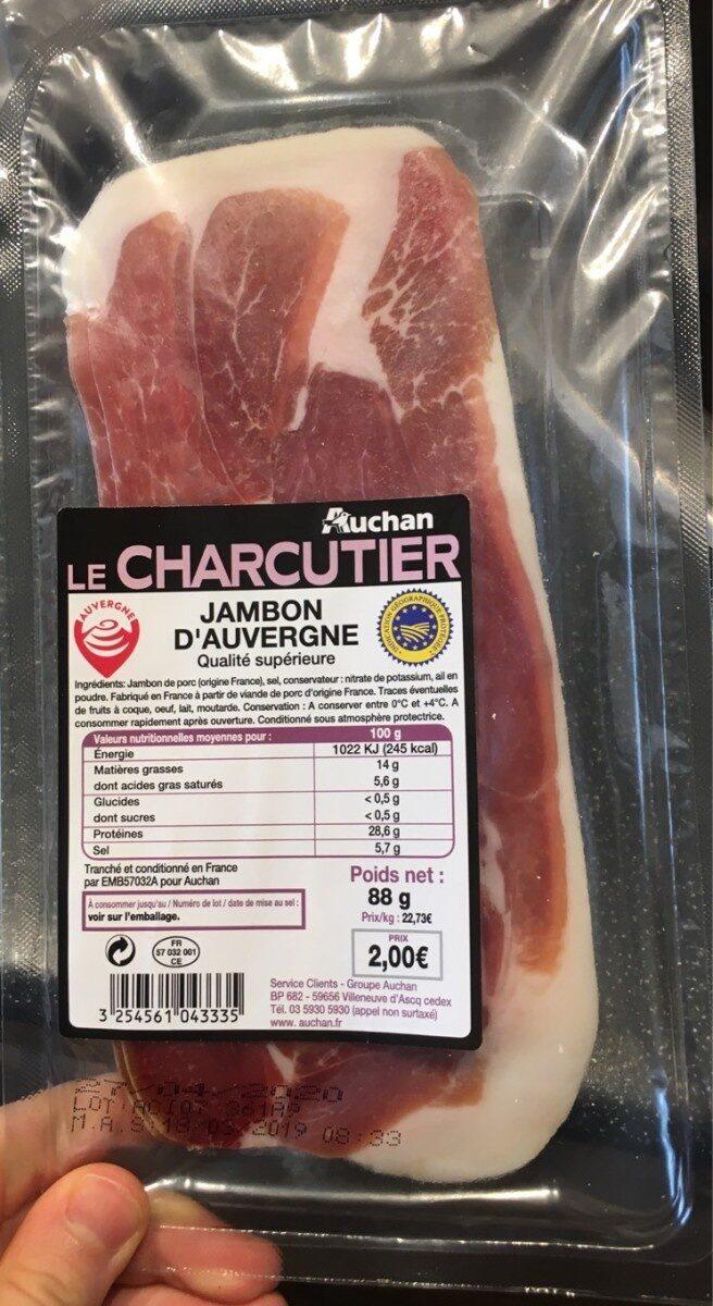 Le charcutier jambon d' auvergne - Product - fr