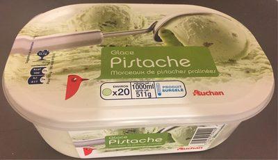 Creme glacee pistache Saveur pistache avec eclats de pistaches hachees. - Product