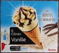 6 cônes vanille avec pépites de nougatine - Product