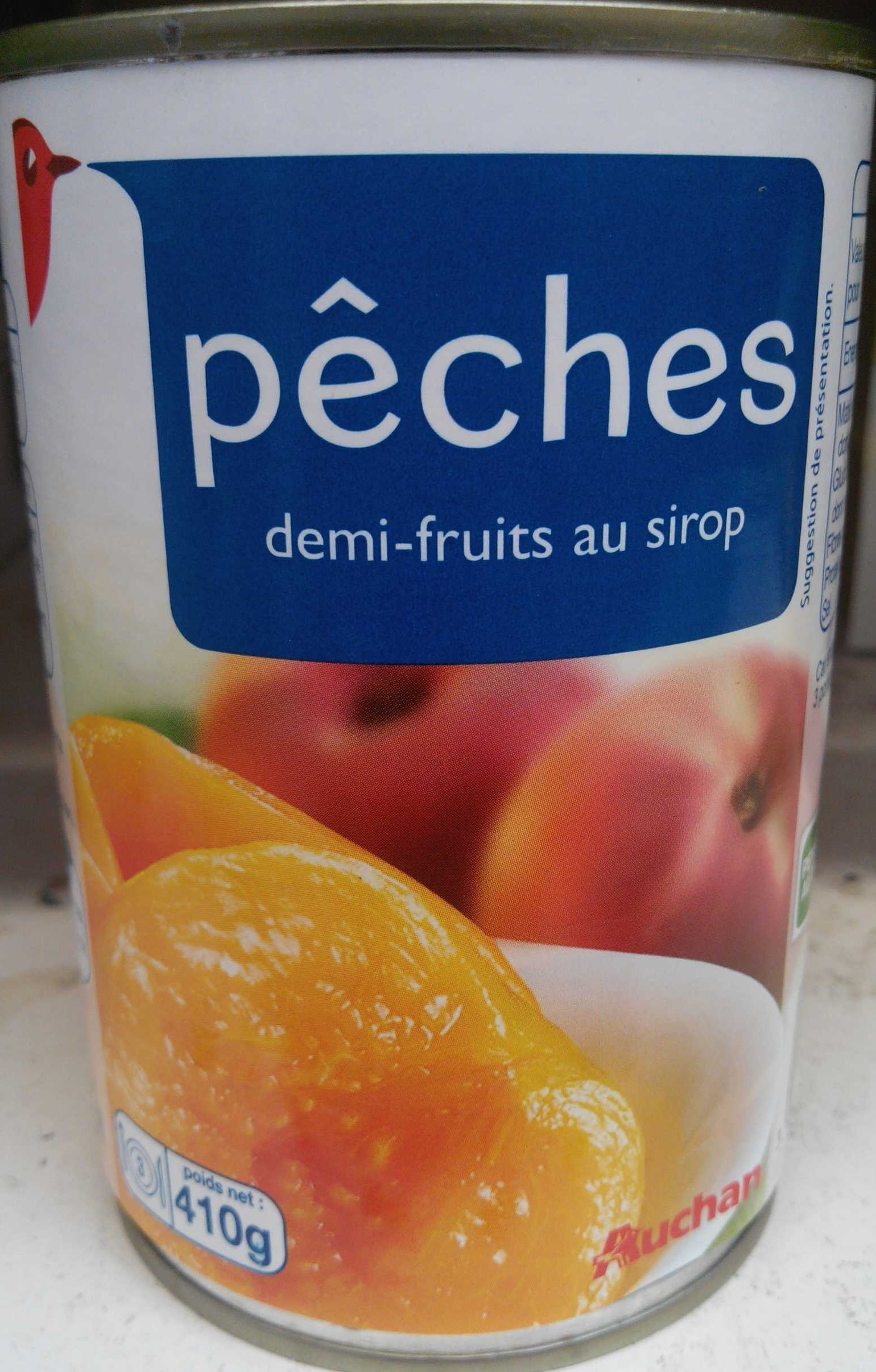 Pêches demi-fruits au sirop - Produit - fr