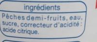 Pêches demi-fruits au sirop - Ingrédients - fr