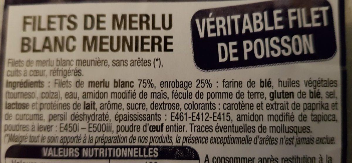 Filet de merlu blanc meuniere - Ingrédients - fr
