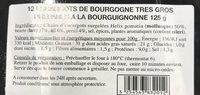 Escargots de bourgogne - Ingrediënten - fr