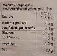 Riz cantonais - Informazioni nutrizionali - fr
