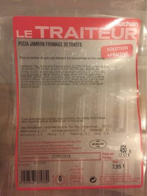 Le Traiteur pizza jambon fromage 30t - Product