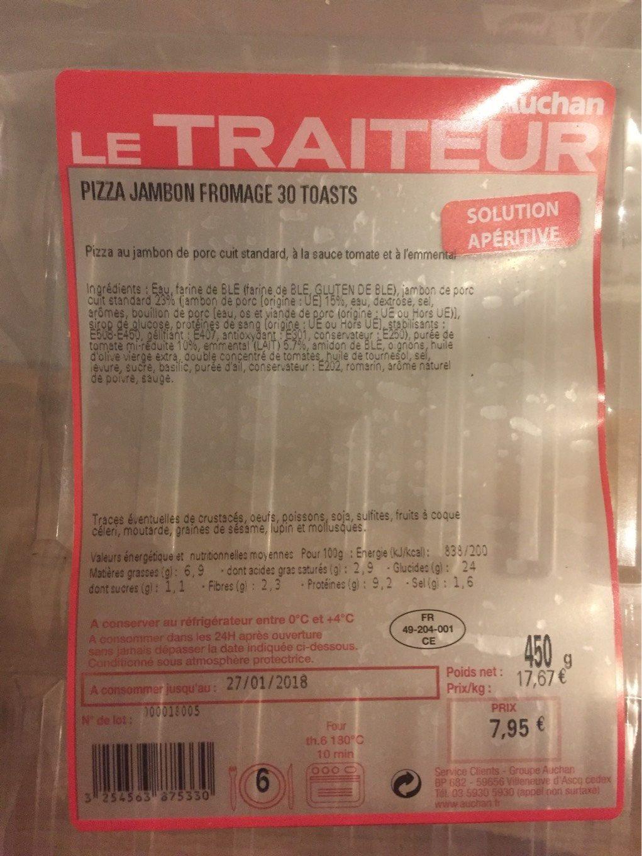 Le Traiteur pizza jambon fromage 30t - Produit - fr