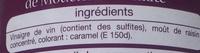 vinaigre balsamique de Modène - Ingrédients
