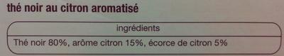 Thé Citron - Ingrédients