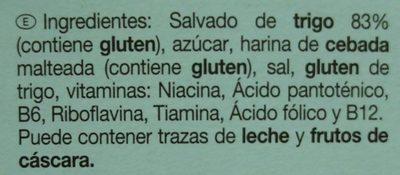 Bran Sticks - Ingredientes - es