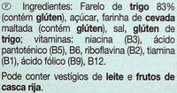 Bran Sticks - Ingredients - pt