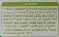 Colza-Olive - Ingredients - fr