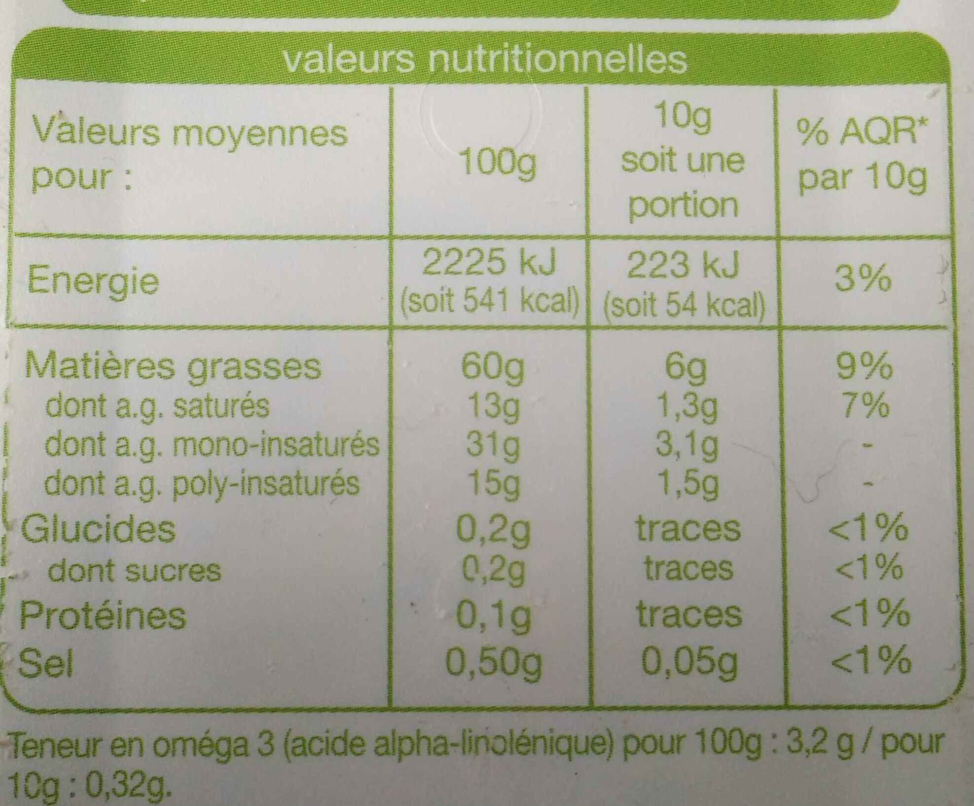 Colza-Olive - Nutrition facts - fr